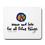 War Peace symbol Mousepad
