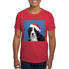 Newfoundland Dog Santa T-Shirt