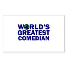 World's Greatest Comedian Rectangle Decal