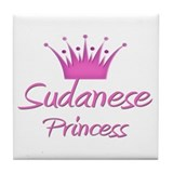 Sudanese Princess Tile Coaster