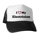I Love My Electrician Trucker Hat