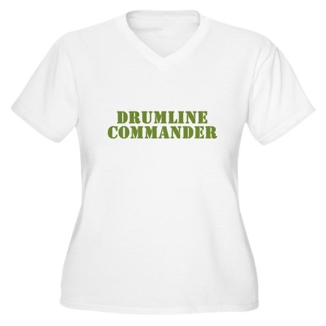 Drumline Commander Women's Plus Size V-Neck T-Shir