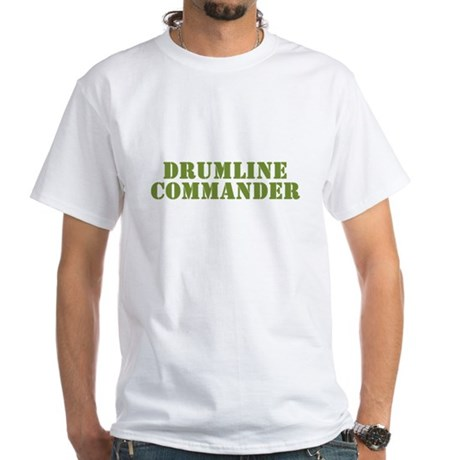 Drumline Commander White T-Shirt