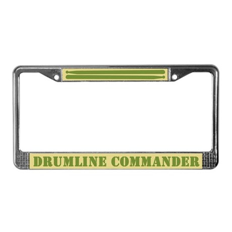 Drumline Commander License Plate Frame