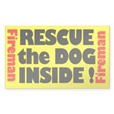 Rescue The Dog Inside (Rectangular) Decal