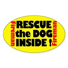 Rescue The Dog Inside Sticker (oval)