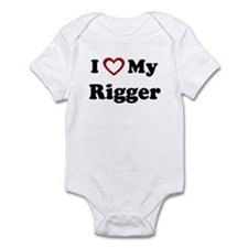 I Love My Rigger Infant Bodysuit