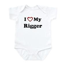 I Love My Rigger Onesie