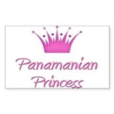 Panamanian Princess Rectangle Decal