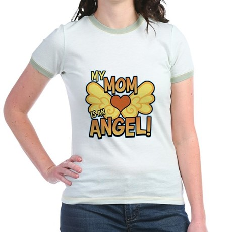 My Mom Angel Jr. Ringer T-Shirt