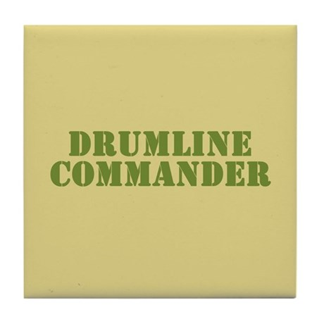 Drumline Commander Tile Coaster