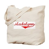 Madalynn Vintage (Red) Tote Bag