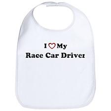 I Love My Race Car Driver Bib