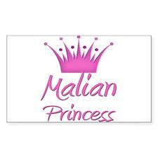 Malian Princess Rectangle Decal