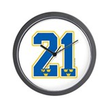 SE Sweden(Sverige) Hockey 21 Wall Clock