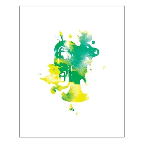 11 X 14 Splatter Tuba Poster Print