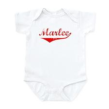 Marlee Vintage (Red) Infant Bodysuit