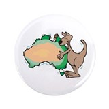 "Aussie Kangaroo 3.5"" Button (100 pack)"
