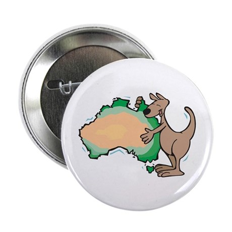 Aussie Kangaroo 2.25&amp;quot; Button (100 pack)