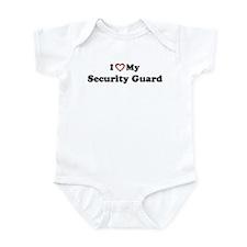 I Love My Security Guard Infant Bodysuit