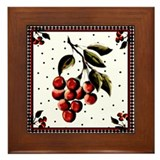 Cherries For Rene'e #1 - Framed Tile