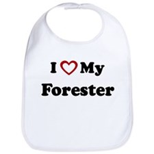 I Love My Forester Bib