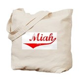 Miah Vintage (Red) Tote Bag