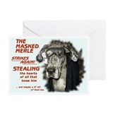 N Masked Merle Greeting Cards (Pk of 10)