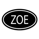 ZOE Oval Decal