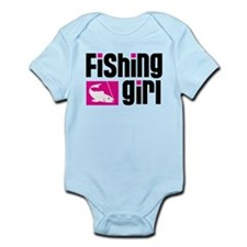 Fishing Girl Infant Bodysuit