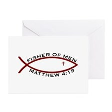 Fisher (RED) - Greeting Cards (Pk of 20)