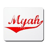 Myah Vintage (Red) Mousepad