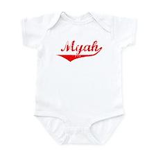 Myah Vintage (Red) Infant Bodysuit