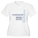 Snowboarder Winter Sport Women's Plus Size V-Neck