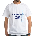 Snowboarder Winter Sport White T-Shirt