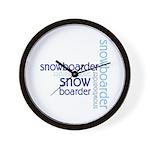 Snowboarder Winter Sport Wall Clock