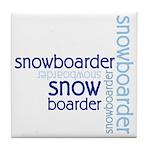 Snowboarder Winter Sport Tile Coaster