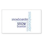 Snowboarder Winter Sport Rectangle Sticker