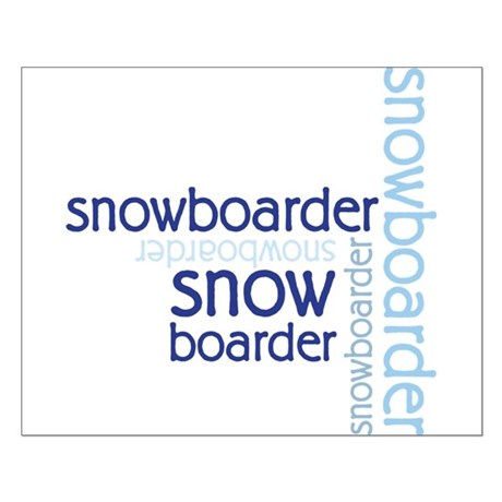 Snowboarder Winter Sport Small Poster