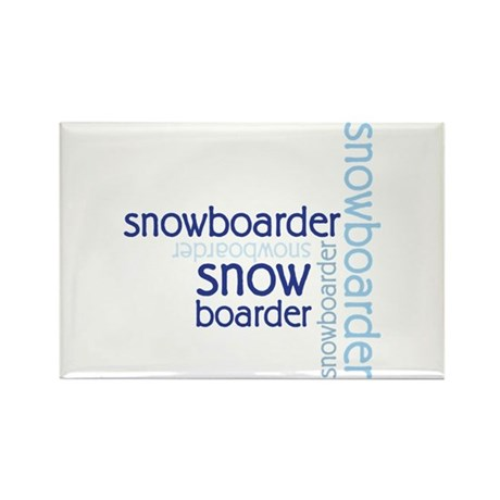 Snowboarder Winter Sport Rectangle Magnet (100 pac
