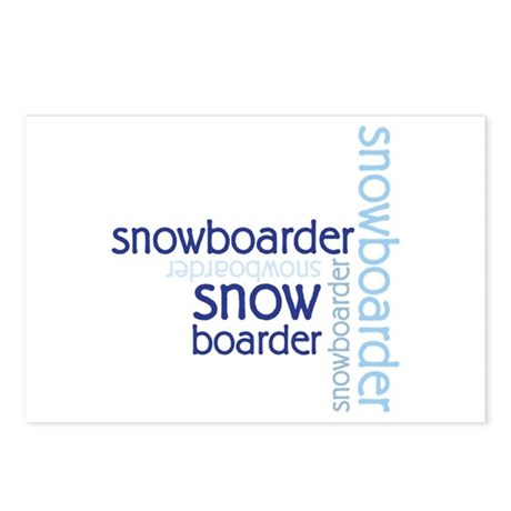 Snowboarder Winter Sport Postcards (Package of 8)