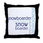 Snowboarder Winter Sport Throw Pillow