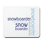 Snowboarder Winter Sport Mousepad