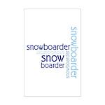 Snowboarder Winter Sport Mini Poster Print