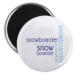 "Snowboarder Winter Sport 2.25"" Magnet (10 pack)"