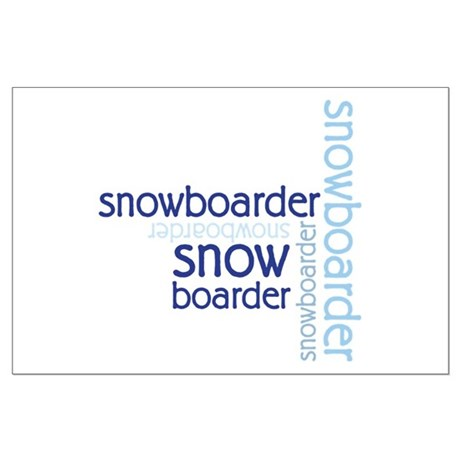 Snowboarder Winter Sport Large Poster