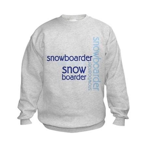 Snowboarder Winter Sport Kids Sweatshirt