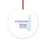 Snowboarder Winter Sport Ornament (Round)