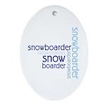 Snowboarder Winter Sport Oval Ornament