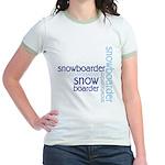 Snowboarder Winter Sport Jr. Ringer T-Shirt